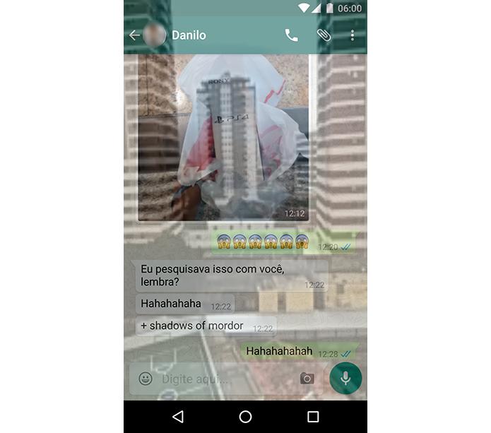 Use o WhatsApp transparente (Foto: Reprodução/Paulo Alves)