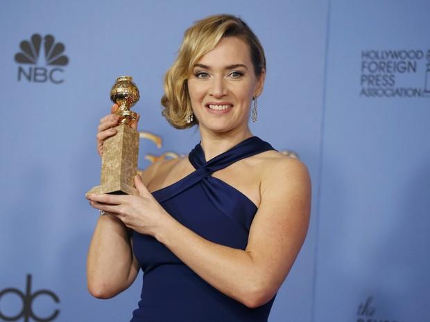 Kate Winslet ganha o Globo de Ouro  de melhor atriz coadjuvante por 'Steve Jobs' (Foto:  REUTERS/Lucy Nicholson)