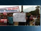 Professores estaduais aproveitam visita de Dilma a Goiás para protestar