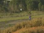 Crianças invadem pista de aeroporto para soltar pipa, no ES