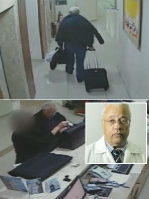 Câmeras de hotel registram médico antes de desaparecimento em SP (Foto: Reprodução/TV Globo)