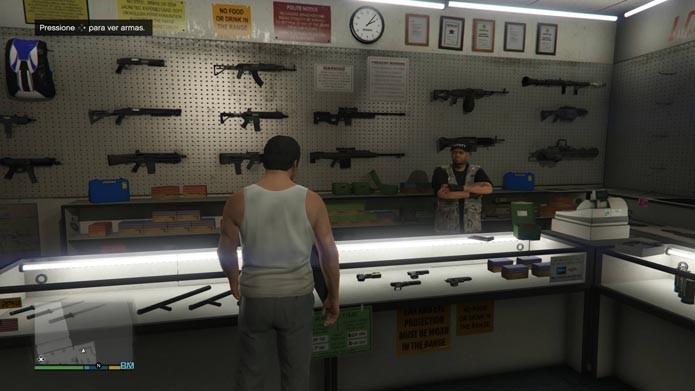 Confira as armas no balcão principal (Foto: Reprodução/Murilo Molina)