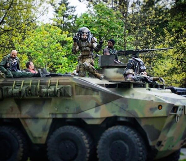 As cenas de bastidores do novo filme da franquia Predador (Foto: Instagram)