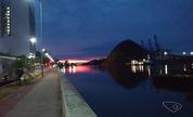 Cinegrafista fotografa nascer do sol em Vitória; veja previsão do tempo (Divulgação/ TV Gazeta)