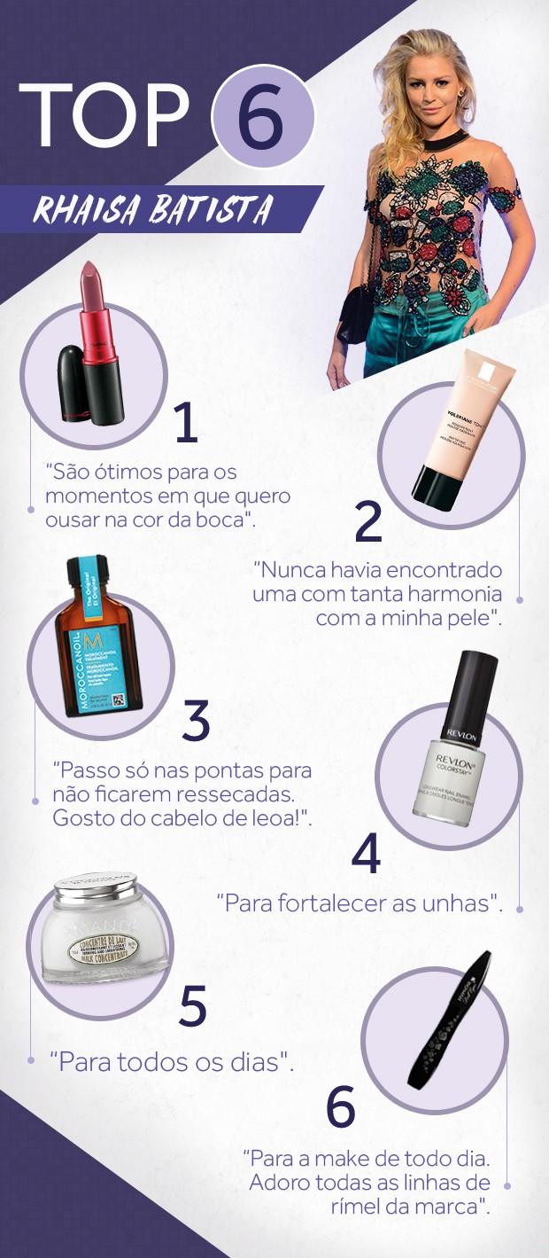 Vitrine com os produtos de Rhaisa Batista (Foto: Arte: Flavio Favilla)