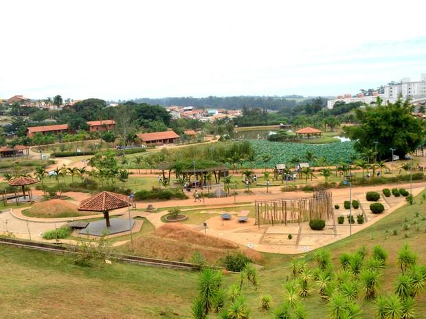 Vista geral do Parque das Águas em Campinas (Foto: Lucas Jerônimo / G1 Campinas)