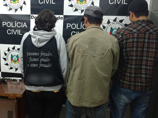 Suspeitos foram presos na quarta-feira, crime, Bom Jesus (Foto: Divulgação/Polícia Civil)