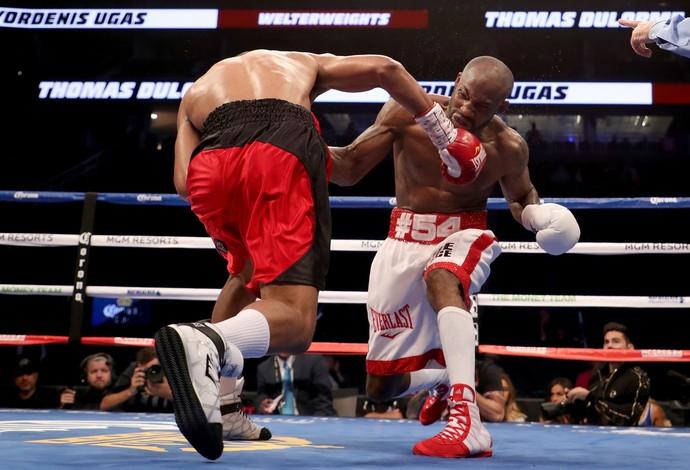Yordenis Ugas x Thomas Dulorme peso-meio-médio card preliminar May-Mac em Las Vegas (Foto: Getty Images)