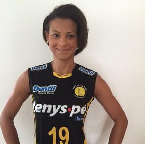 Walewska jogadora de vôlei Praia Clube (Foto: Praia Clube/Divulgação)