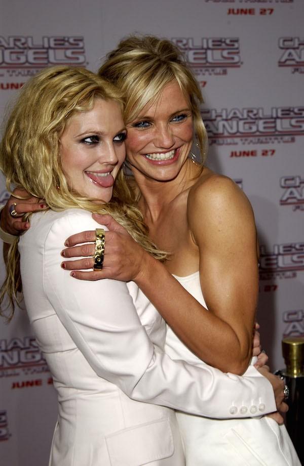 As atrizes Drew Barrymore e Cameron Diaz (Foto: Getty Images)