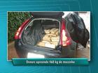 Jovem é preso transportando meia tonelada de droga em carro roubado
