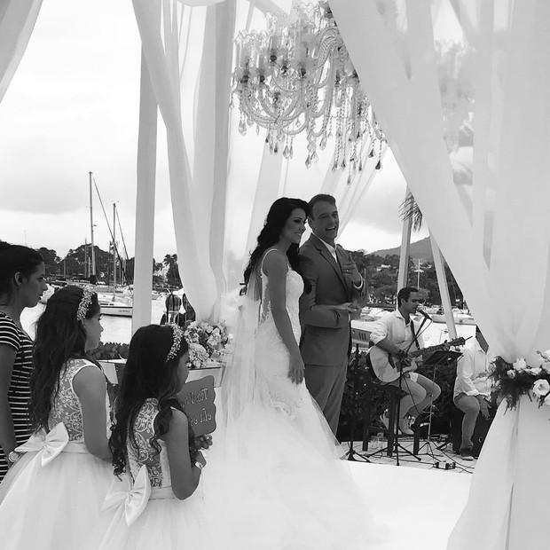 Casamento de Rogério Padovan e Priscila  (Foto: Instagram / Reprodução)
