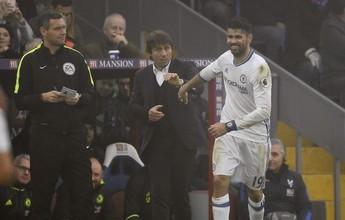 Jornal: Diego Costa briga com Conte  e está fora do jogo contra o Leicester