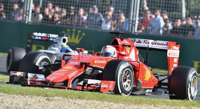 Vettel, GP da Austrália de F1 (Foto: AFP)