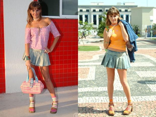 Darlene seguia os passos de Babalu e adotava as saias curtinhas (Foto: Divulgação/Gshow/TV Globo)