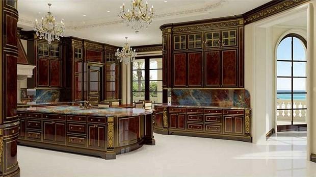 Cozinha da casa também tem decoração luxuosa (Foto: Divulgação/Coldwell Banker Residential Real State)