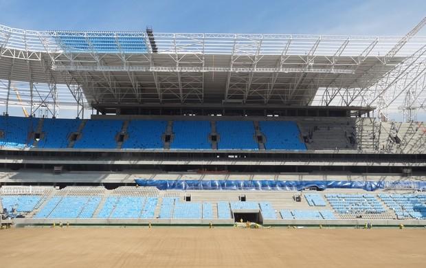 Evolução Arena do Grêmio (Foto: Tomás Hammes / GLOBOESPORTE.COM)