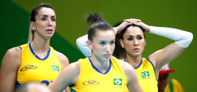 Brasil X China Vôlei (Foto: Agência EFE)