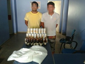 Dupla chegou a entrar com cervejas no presídio, mas foi detida (Foto: Divulgação/Polícia Militar)