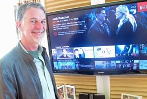 Reed Hastings, CEO e fundador do Netflix, comenta adoção da tecnologia 4K (Foto: Gustavo Petró/G1)