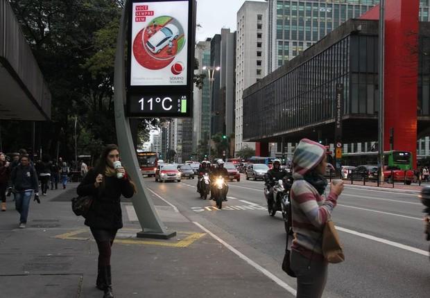 Paulistas sofrem com onda de frio na capital (Foto: Rovena Rosa/Agência Brasil)
