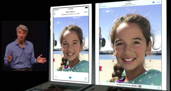 O iOS 8 tem novos modos de edição de foto  (Foto: Reprodução/ Apple)