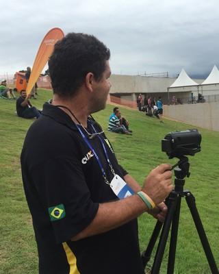 Guilherme Pussieldi evento teste ciclismo BMX Deodoro (Foto: Amanda Kestelman)