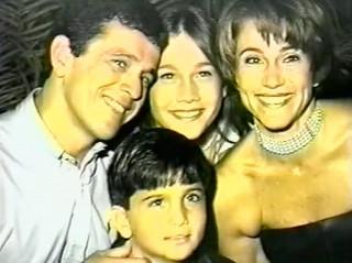 Maurício, pai da Fernanda Gentil, Fernanda Gentil, a mãe dela Marta e o irmão dela Felipe (Foto: Reprodução)