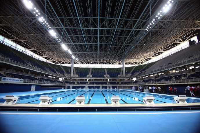Estádio Aquático Parque Olímpico Rio 2016  (Foto: Roberto Castro / ME)