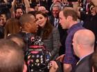 Príncipe William e Kate Middleton cumprimentam Beyoncé e Jay-Z