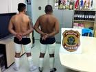 Dois são detidos em aeroporto no AM com 7kg de droga presos ao corpo