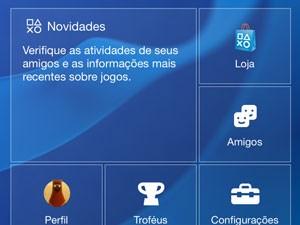 Aplicativo traz informações do gamer na PSN (Foto: Reprodução)