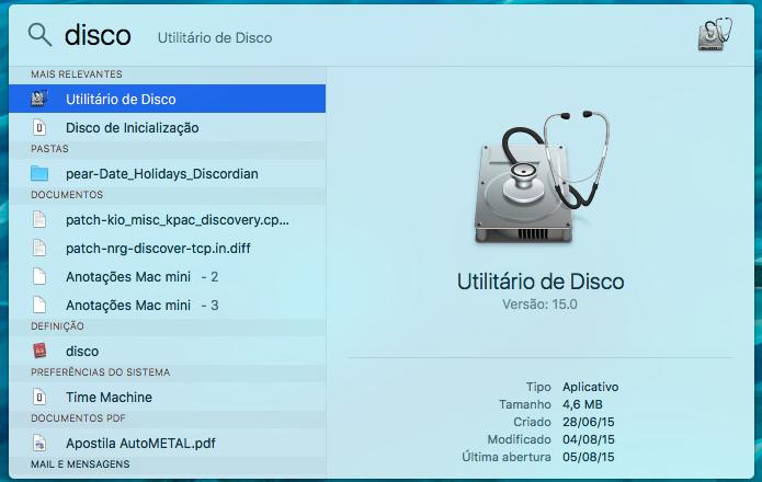Abra o Utilitário de disco do OS X (Foto: Reprodução/Helito Bijora)