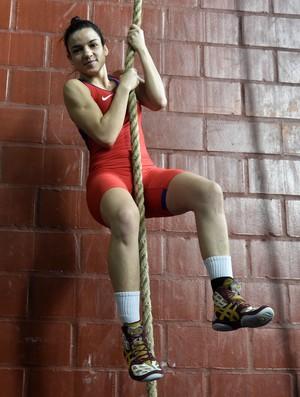 Kamila Barbosa, luta olímpica (Foto: André Durão)