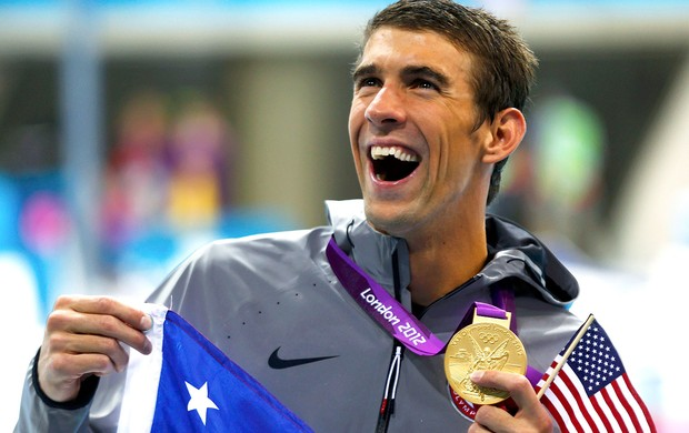 Michael Phelps, Natação, 4 x 200m, Medalha (Foto: Agência Reuters)