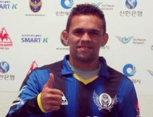 Atacante João Paulo, ex-ABC, acertou com Incheon United FC, time da 1ª divisão da Coreia do Sul (Foto: Arquivo pessoal)