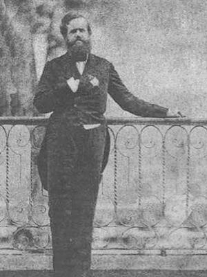 Auto retrato feito por Dom Pedro II no século XIX (Foto: Reprodução / Internet)