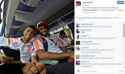 Muralha e Leo Moura Flamengo Intagram (Foto: Reprodução / Instagram)