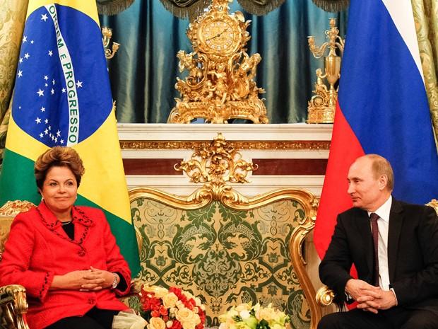 Dilma se reúne em Moscou com o presidente da Rússiva, Vladimir Putin. (Foto: Roberto Stuckert Filho/Presidência)