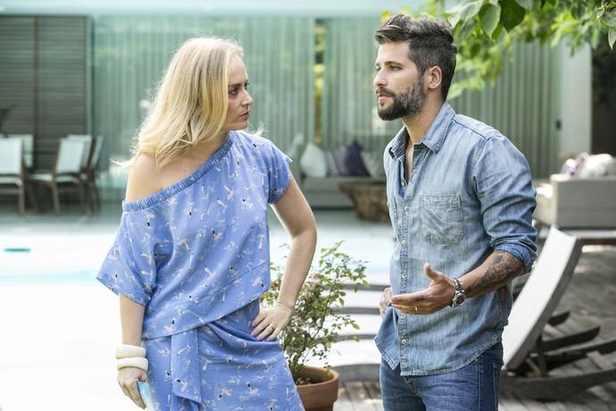 Bruno Gagliasso abriu a casa e recebeu Angélica para bate-papo sobre família (Foto: Inácio Moraes/Gshow)