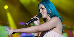 Sheppard faz 'show-coraçãozinho' com pop inofensivo no Rock in Rio (Luciano Oliveira/G1)