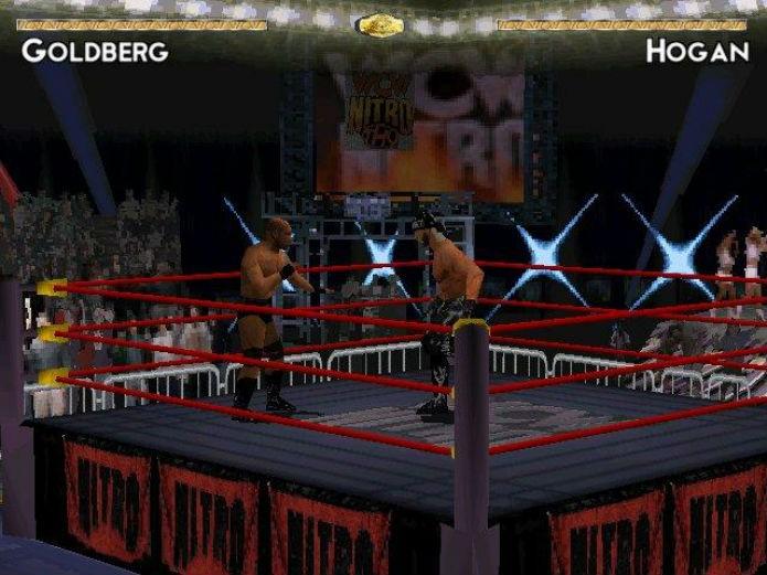 Goldberg enfrentando Hollywood Hogan (Foto: Reprodução/Giant Bomb)