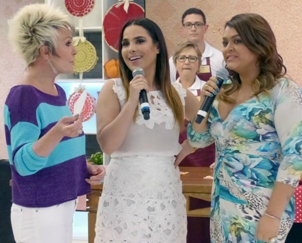 Wanessa Camargo e Preta Gil no programa Mais Você de hoje (28). (Foto: Laura Fraga/Gshow)