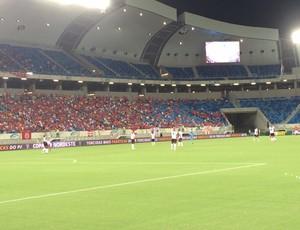 Arena das Dunas - América-RN x Vitória (Foto: Augusto Gomes/GloboEsporte.com)