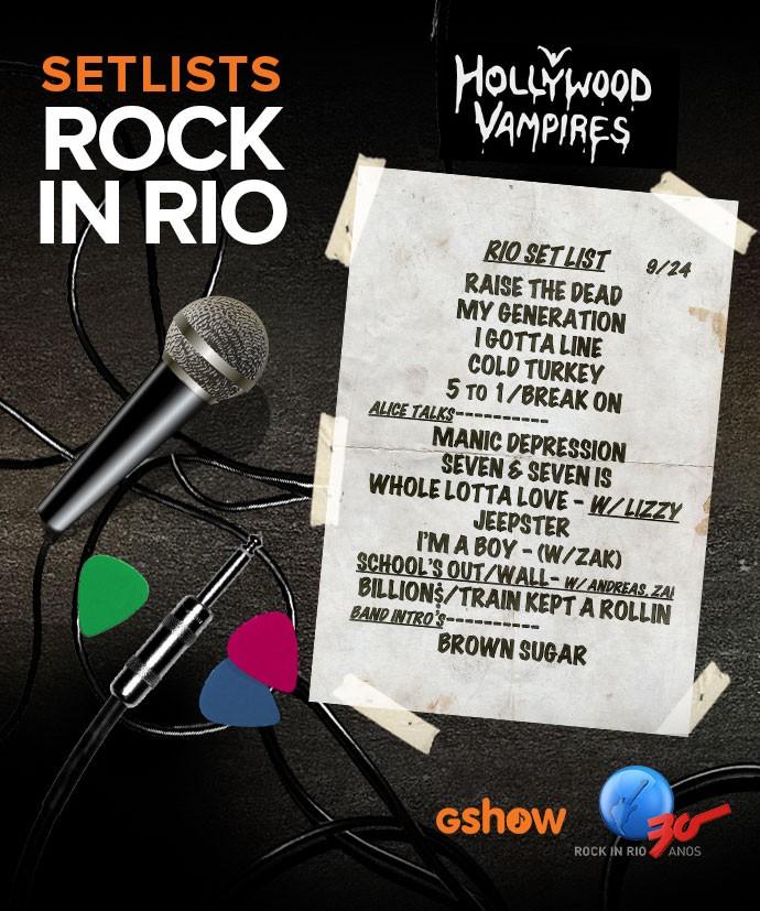 Setlist Hollywood Vampires (Foto: Divulgação / Arte: Scintilla Lima/Gshow)