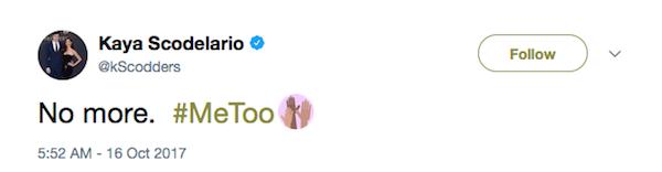 A revelação feita pela atriz Kaya Scodelario do abuso que sofreu quando era criança (Foto: Twitter)
