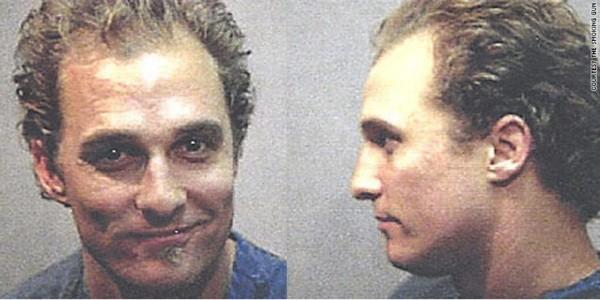 McConaughey foi preso por porte de drogas leves (Foto: Divulgação)