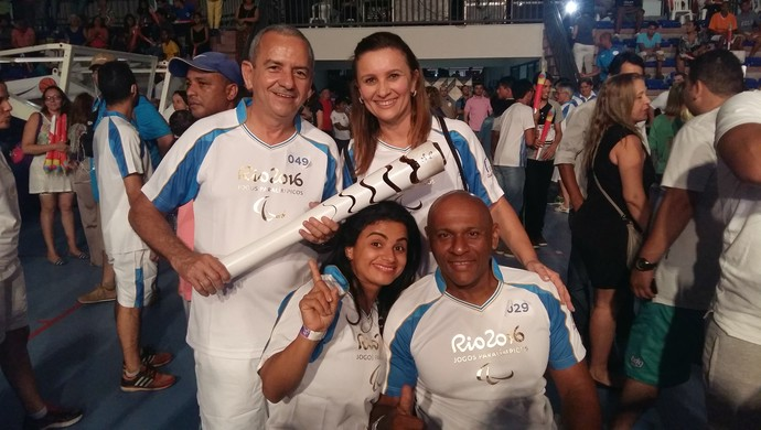 RN - Maria Rizonaide Silva - Roberto Vital - Tocha Paralímpica Natal (Foto: Jocaff Souza/GloboEsporte.com)
