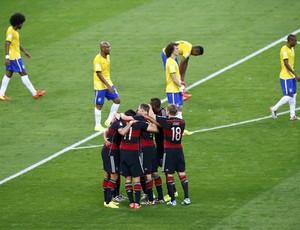 Comemoração da Alemanha contra o Brasil