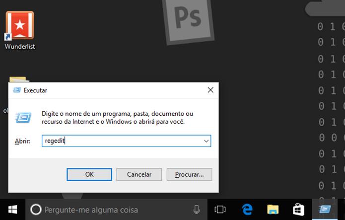 Abra o editor de registro para desativar o Windows Ink (Foto: Reprodução/Elson de Souza)